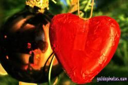 Weihnachtskarten mit Herz, Liebe, Valentinstag