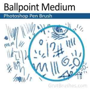 'Ballpoint Medium' Photoshop Ink brush ballpoint Photoshop pen