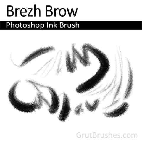 Photoshop Ink Brush tool preset 'Brezh Brow'