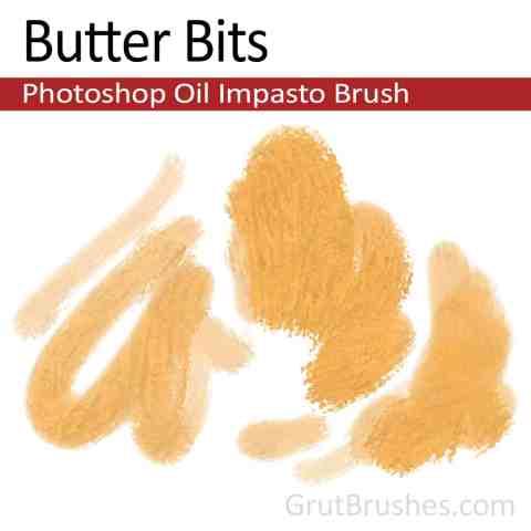 Photoshop Impasto Oil Brush for digital artists 'Butter Bits'