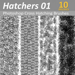 Photoshop cross hatching brushes