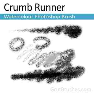 'Crumb Runner' Photoshop watercolor brush for digital painting
