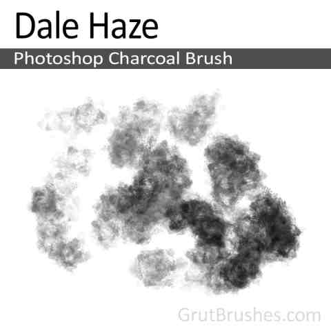 Photoshop Charcoal Brush 'Dale Haze'