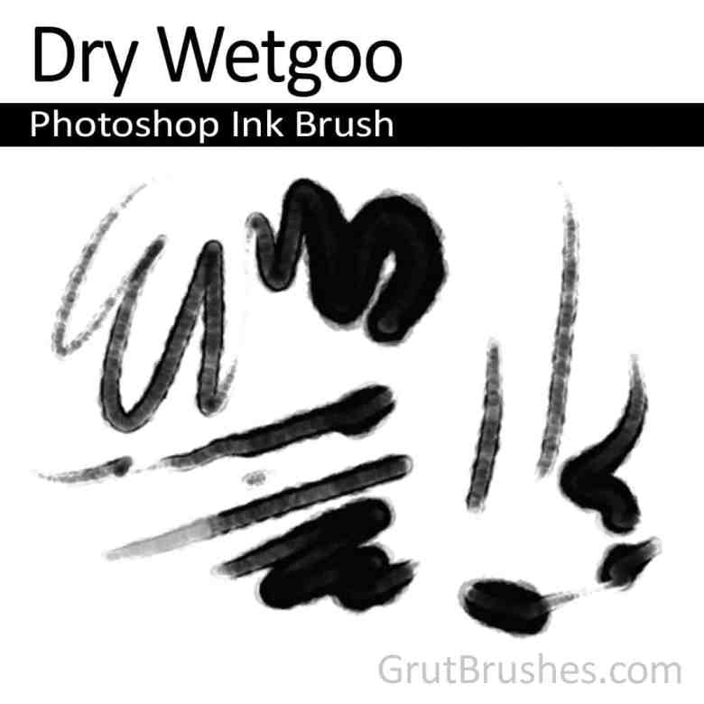 'Dry Wetgoo' Photoshop Ink Brush digital download