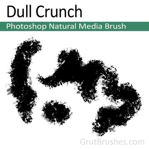 Photoshop Natural Media Brush for digital artists 'Dull Crunch'
