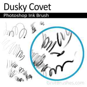 'Dusky Covet' Photoshop Ink Brush for digital artists