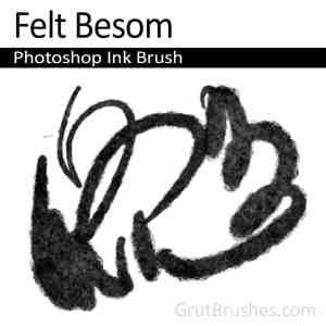 'Felt Besom' Photoshop ink felt brush pen Brush toolset