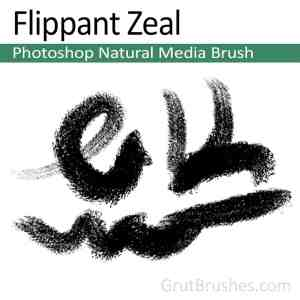 Photoshop Natural Media Brush 'Flippant Zeal'