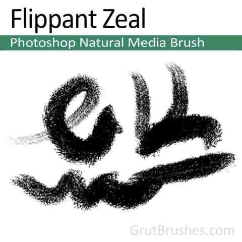 Photoshop Natural Media Brush 'Flippant Zeal'