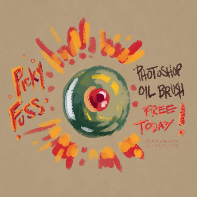 """Picky Fuss"" oil paint brush for Photoshop"