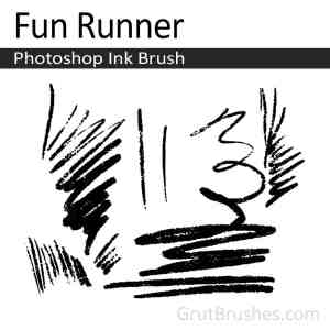 Fun Runner Photoshop ink brush
