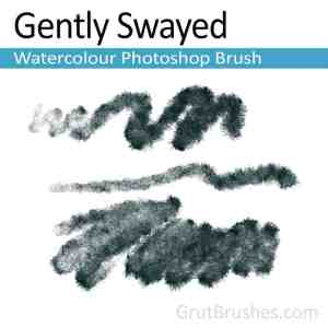 'Gently Swayed' Photoshop watercolor brush for digital painting