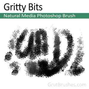 'Gritty Bits' Natural Media Photoshop Brush for digital painters