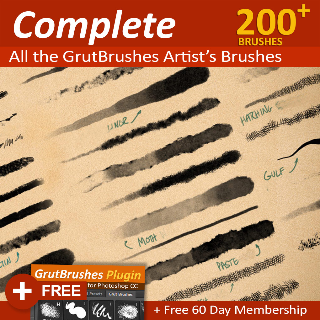 Artist brush set photoshop cc