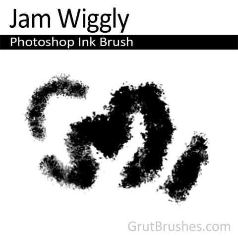 Photoshop ink Brush 'Jam Wiggly'