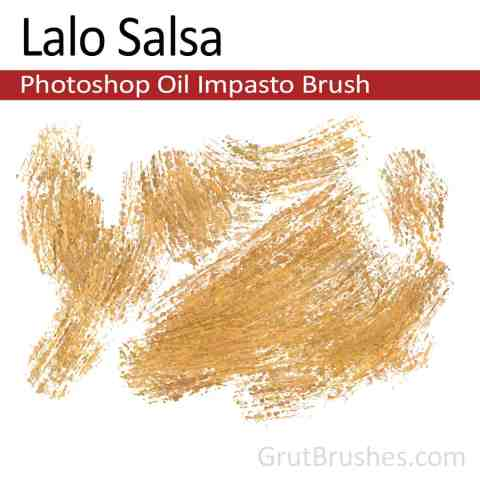 'Lalo Salsa' Impasto Oil Photoshop Brush for digital artists