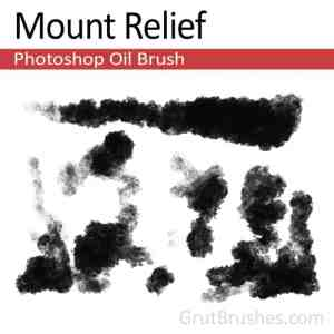 'Mount Relief' Oil Paint brush for digital painting