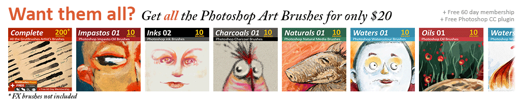 200+ Photoshop brushes for $20