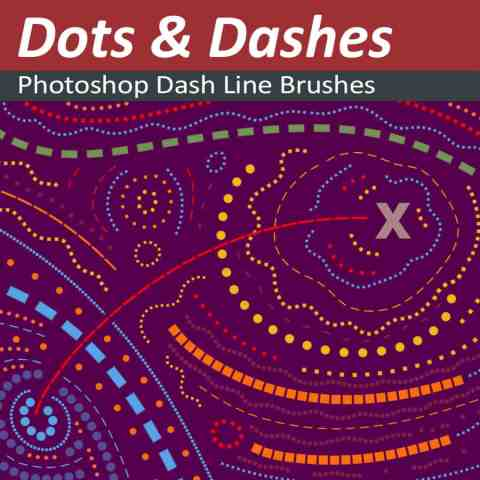 Photoshop-Dots-and-Dashes-Brushes