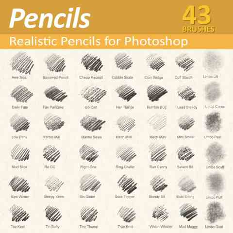 Photoshop Pencil brushes