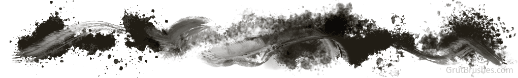 Photoshop Drips, Splatter and spray brushes with the mixer brushes can create some very smeary messes