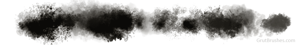 Photoshop Stain and smudge brushes and other water grungy damage created with the Inky Leaks Photoshop brushes