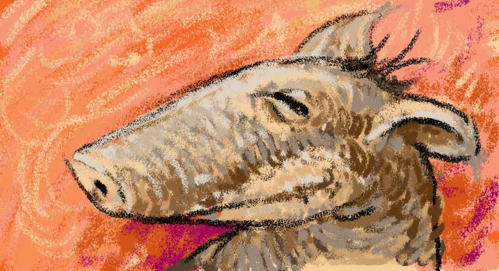 Drawn with the Wax Factor Photoshop Pastel Brush