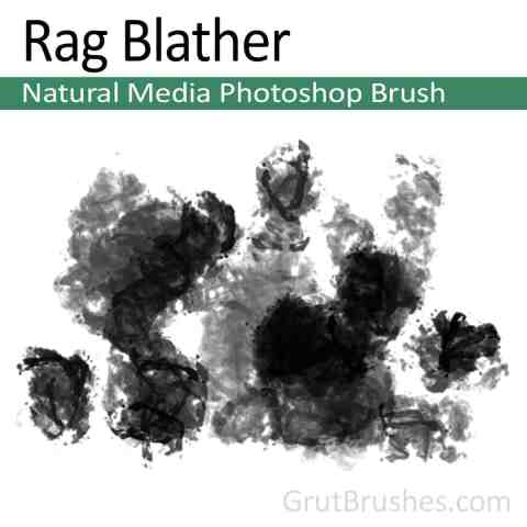 Photoshop Natural Media Brush 'Rag Blather'