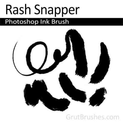 Photoshop Natural Media Brush - 'Rash Snapper'
