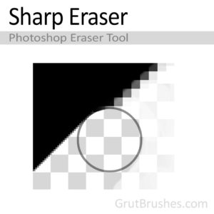 'Sharp Eraser' Photoshop Eraser Tool