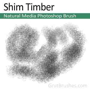 'Shim Timber' Photoshop Natural Media Brush digital artist's toolset