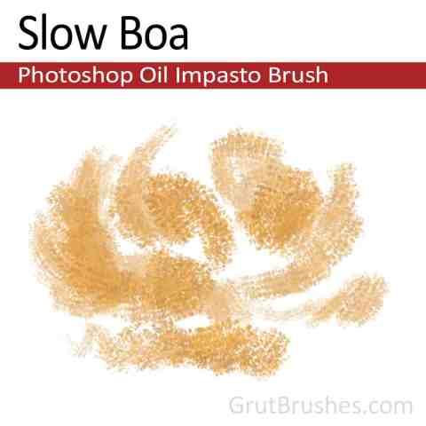'Slow Boa' Photoshop Impasto Oil Brush for digital artists