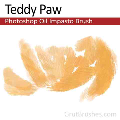 Impasto Oil Photoshop Brush strokes Painted with the 'Teddy Paw' (digital artist's tool preset)