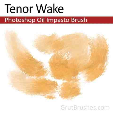'Tenor Wake' Impasto Oil Photoshop Brush for digital artists