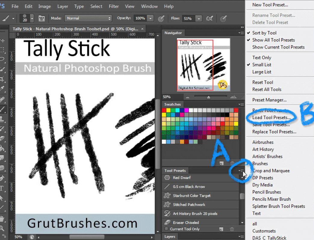 Watercolor art history brush cs6 - Choose Load Preset Or Open Preset Manager