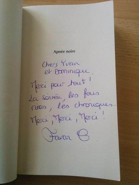 Claire Favan Apnée noire