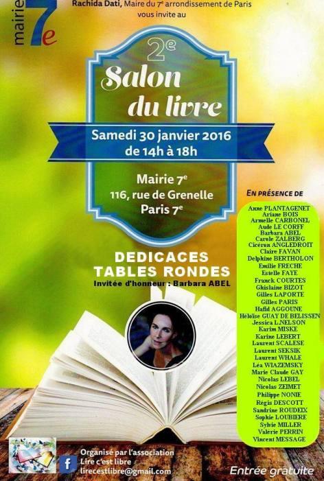 Salon du livre mairie du 7ème arrondissement de Paris 2016