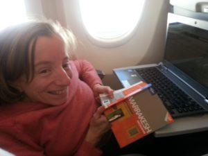 1. 23.03.13 - På flyet til Marrakesh
