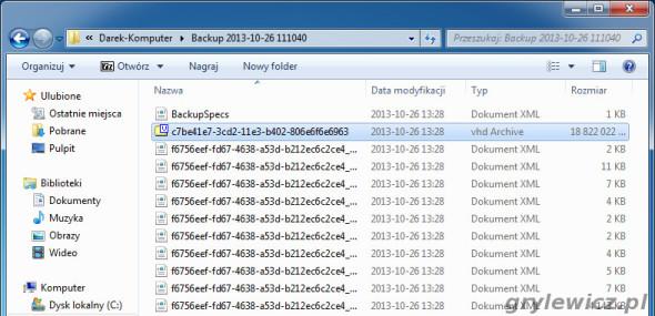 Pliki obrazu systemu w Windows 7