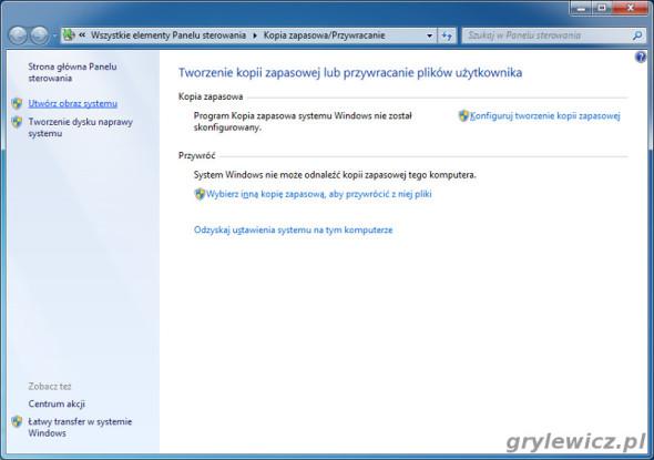 Windows 7 - utwórz obraz systemu
