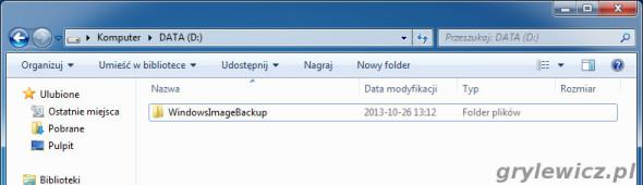 Windows 7 - WindowsImageBackup