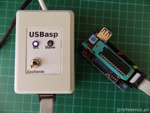USBasp w obudowie