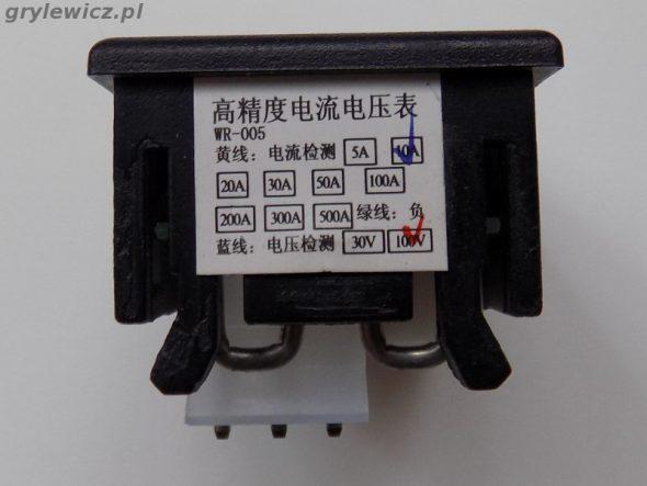 Etykieta modułu pomiaru napięcia i prądu