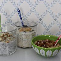 Tre typer frokostgrøt