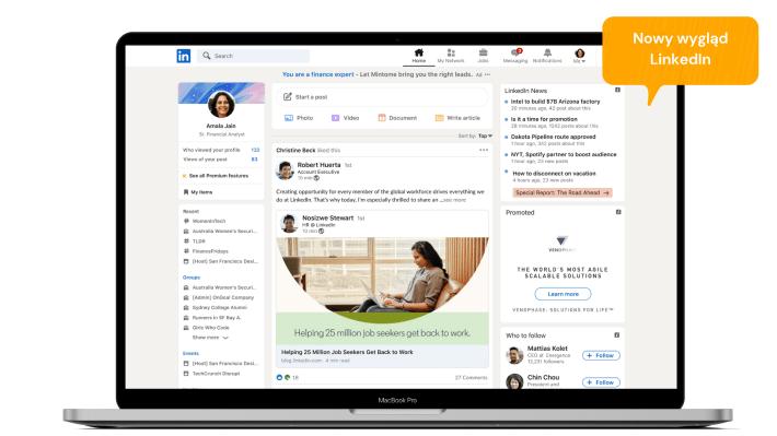 Zmiany na LinkedIn: Nowy design