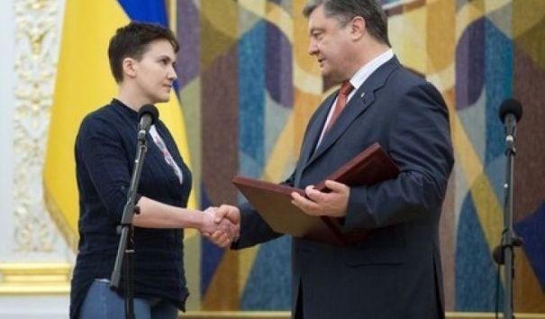 Савченко посоветовала Порошенко уступить свое место Януковичу