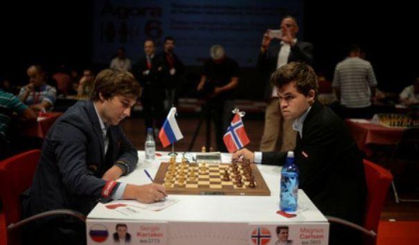 Четвертая партия матча за звание чемпиона мира по шахматам законичилась вничью