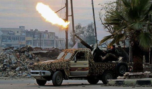 Боевики атаковали правительственную армию Сирии в Алеппо