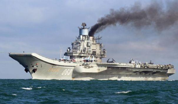 """Самолет-разведчик ВМС США опасно приблизился к """"Адмиралу Кузнецову"""""""