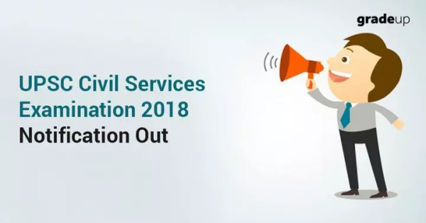 UPSC Civil Services Notification 2018 Out (782 Vacancies)!